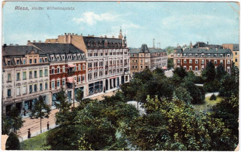 Riesa Partie am Kaiser Wilhelm Platz 1909