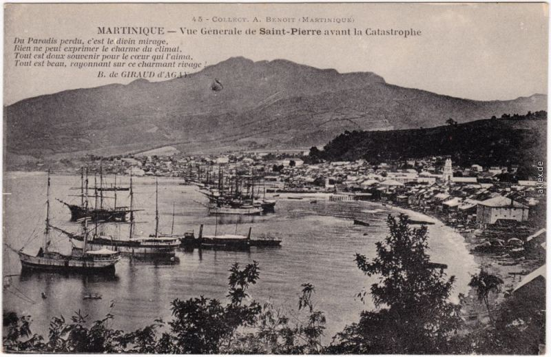 CPA Saint-Pierre (Martinique) Vue Generale  avant la Catastrophe France  1913