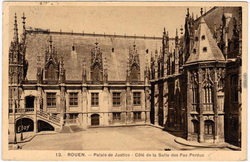 Rouen Palais de Justice - Côté de la Salle des Pas Perdus  Seine-Maritime  1935