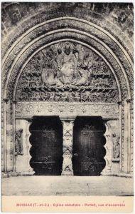 Moissac Eglise abbatiale - Portail, vue ensemble Tarn-et-Garonne 1922