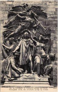 Paris Arc de Triomphe, groupe de Corlot CPA Postcard 1922