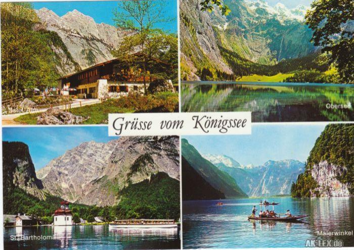 Ansichtskarte St. Bartholomä-Schönau am Königssee Königssee 1990