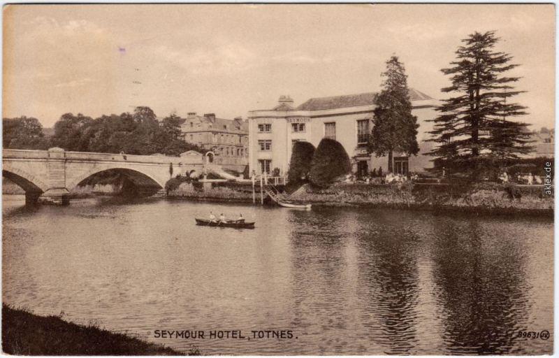 Totnes Seymour Hotel Vintage Postcard Devon England  1929