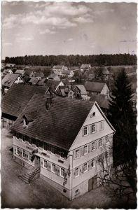 Neuweiler (Schwarzwald) Blick über - Gasthof zum goldenen Lamm b Calw  1955