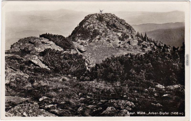 Bodenmais Großer Arber Gipfel (Bayerischer Wald) Fotokarte  1934