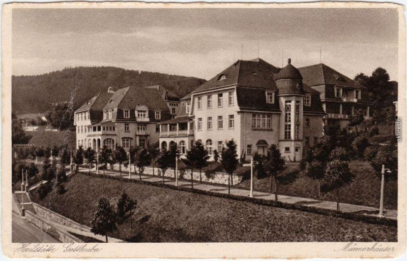 Bad Gottleuba-Bad Gottleuba-Berggießhübel Männerhäuser - Straßenpartie 1928