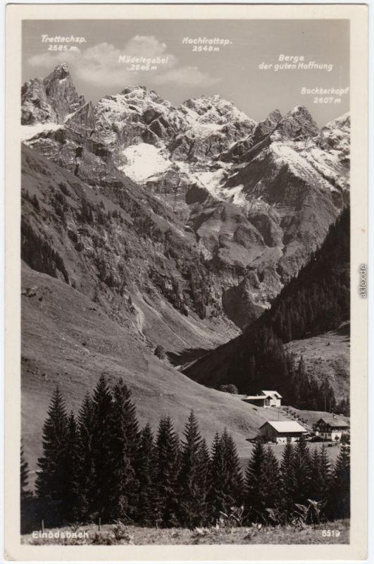 Einödsbach Oberstdorf (Allgäu) Einödsbach mit Mädelegabelgruppe 1932