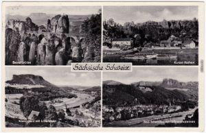 Basteibrücke, Lilienstein, Bad Schandau, Rathen- Sächsische Schweiz 1962