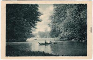 Ansichtskarte München Bootspartie im englischen Garten 1928