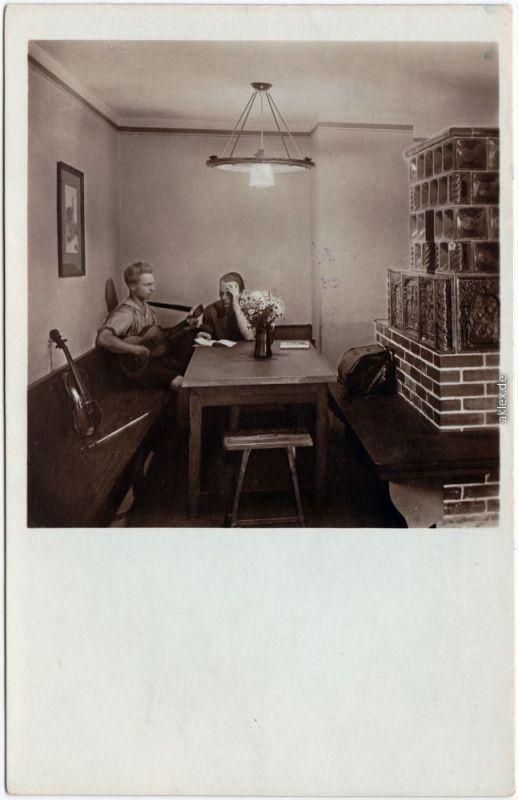 Hohnstein (Sächs. Schweiz) Jugenburg Hohnstein - Lausitzer Saal Fotokarte 1928