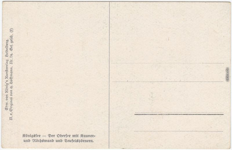 Schönau am Königssee Künstlerkarte: Königssee Ansichtskarte  1913 1