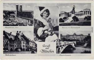 Haidhausen München Ruhmeshalle, Frauenkirche, Hofbräuhaus, Maximilianeum 1939