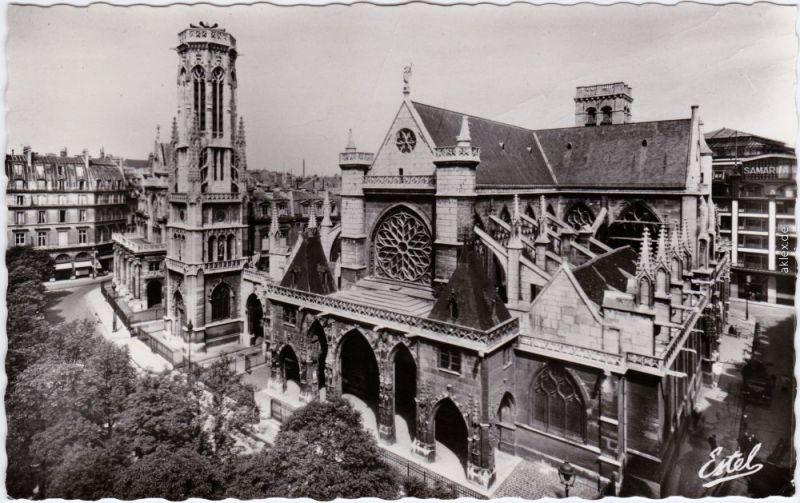 Paris Eglise Eglise Kirche Saint-Germain-l'Auxerrois 1955