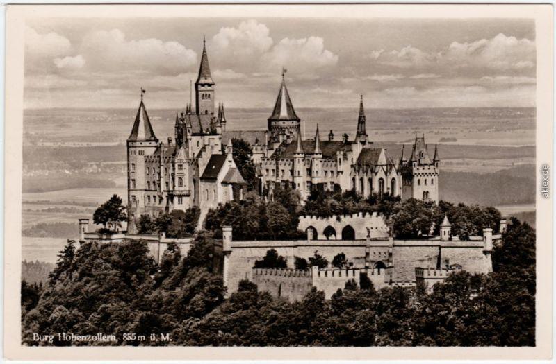 Hechingen Burg Hohenzollern Foto Ansichtskarte 1936