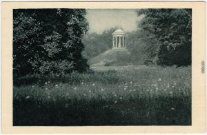 München Pavillon im englischen Garten Ansichtskarte 1930