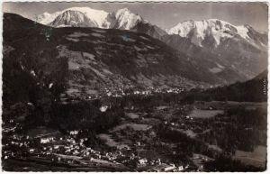 Saint-Gervais-les-Bains Vue aériennesur Le Fayet Haute-Savoie 1956