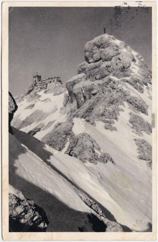 Grainau Münchner Haus Zugspitze Foto Ansichtskarte b Garmisch Partenkirchen 1938