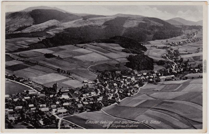 Luftbild Waltersdorf Großschönau Oberlausitz b Zittau Oybin 1939