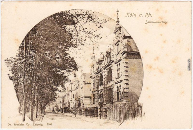 Köln Coellen /  Cöln Sachsenring Ansichtskarte Neustadt 1907