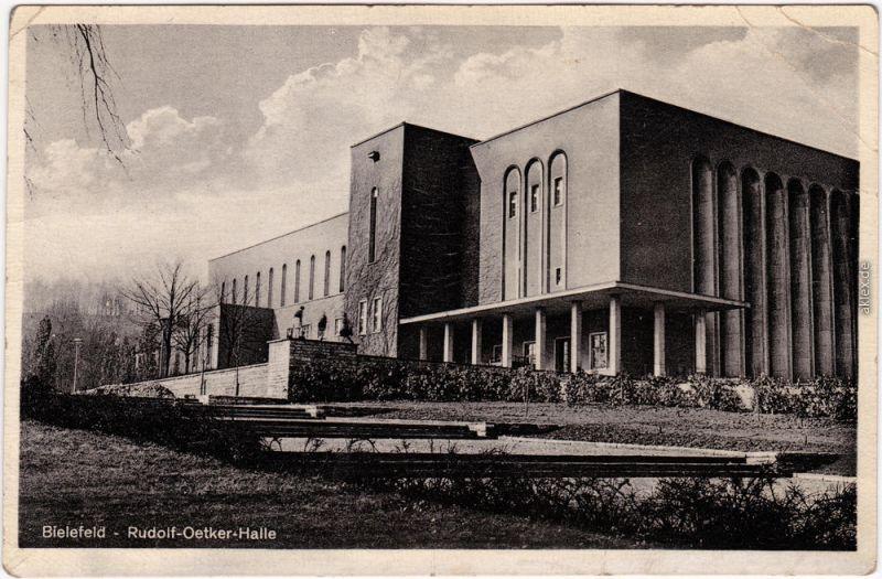 Bielefeld Rudolf Oetker Halle Ansichtskarte  1949