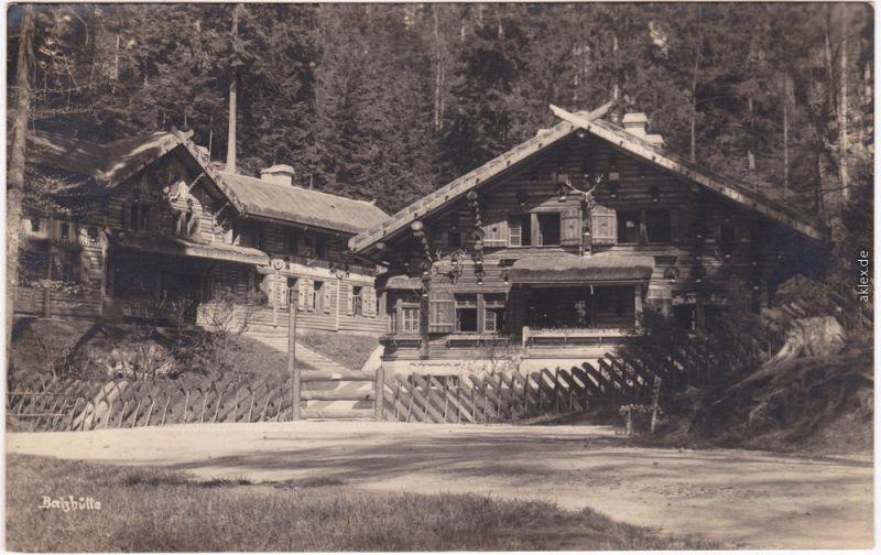 Dittersbach (Böhm. Schweiz) Jetřichovice Balzhütte b Tetschen Teplitz 1927