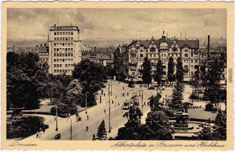 ak dresden neustadt hochhaus am albertplatz nr 5966029 oldthing ansichtskarten deutschland. Black Bedroom Furniture Sets. Home Design Ideas