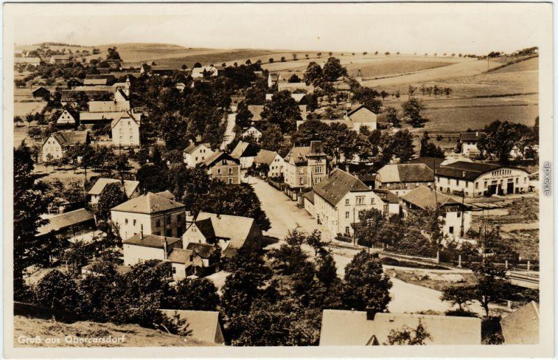 Karsdorf (ehemals Wendisch-Carsdorf) Rabenau Totale, Dorfstraße b Freital 1943