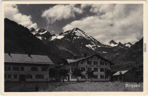 Ansichtskarte Birgsau Oberstdorf (Allgäu) Dorfpartie mit Gasthaus 1916