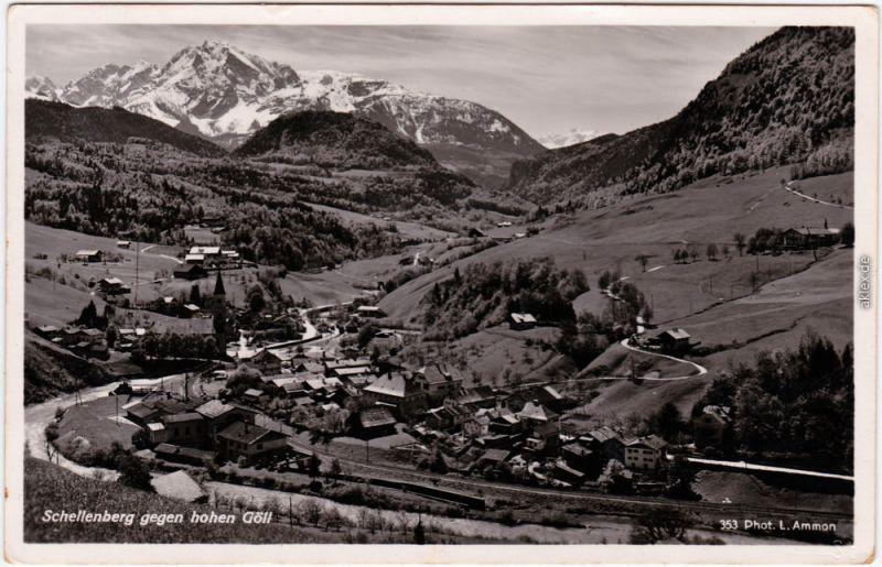 Ansichtskarte Schellenberg Donauwörth Blick auf die Stadt 1934