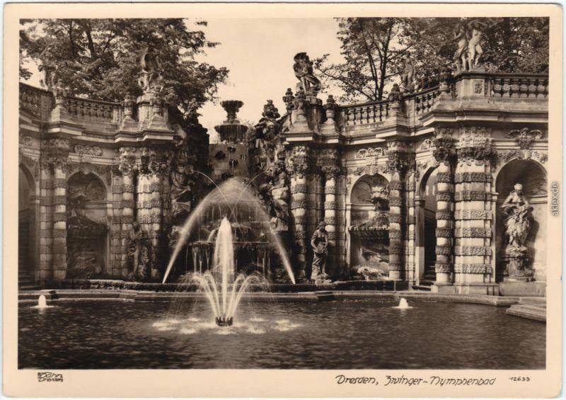 Innere Altstadt-Dresden Zwinger-Nymphenbad 1955 Walter Hahn:12633