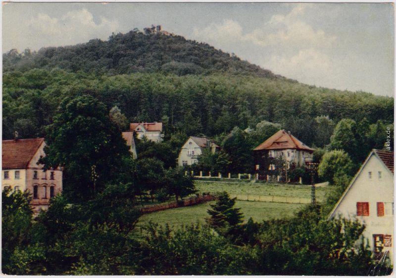 Biesnitz Görlitz Zgorzelec Blick von Klein-Biesnitz zur Landeskrone 1957