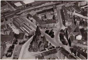 Wilsdruffer Vorstadt Dresden Luftbild Wettiner Platz mit Jakobikirche1983
