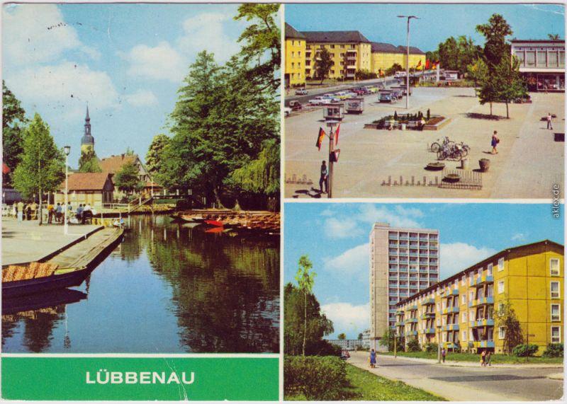 Lübbenau (Spreewald) Lubnjow 3 Bild - Straße der Jugend - Roter Platz 1980