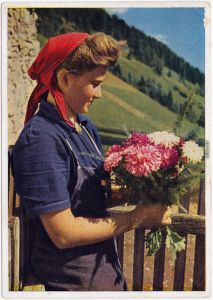 Ansichtskarte  Reichsarbeitsdienst für die weibliche Jugend 1938