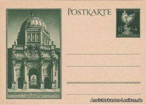 Berlin, Eingang Schlossmuseum, Ganzsache Deutsche Goldschmiedekunst Wert 6+4 Pf.