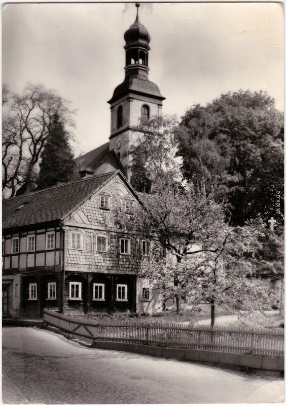 Foto Ansichtskarte Großschönau (Sachsen) Kirche Oberlausitz b Zittau  1971