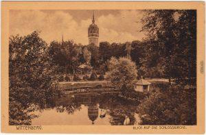 Lutherstadt Wittenberg Park, Taubenhaus und Schloßkirche 1924