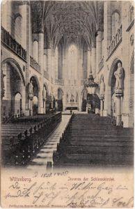 Ansichtskarte Lutherstadt Wittenberg Inneres der Schloßkirche 1903