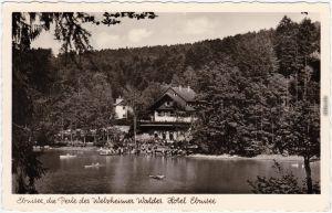 Foto Ansichtskarte Ebnisee Welzheim Ebnisee, Welzheimer Wald, Hotel 1952