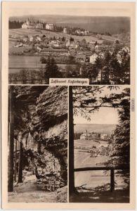 Finsterbergen Friedrichroda Panorama und unterm Felsen 1956