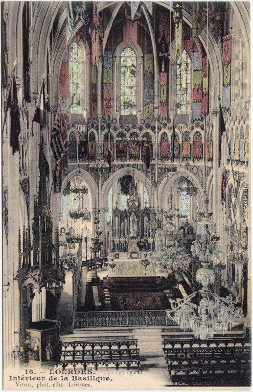 Ansichtskarte CPA Lourdes Lorda Interieur de la Basilque 1920 Nr ...
