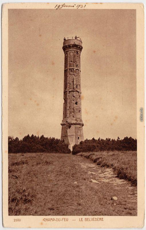 Le Hohwald Le Belvedere de Champ-du-Feu Niederrhein Esaß 1931