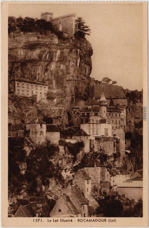 Rocamadour Le Lot Illustré CPA Ansichtskarte Lot 1932