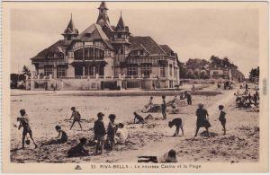 Ouistreham Riva-Bella - Le nouveau Casino et la Plage CPA Calvados  1928