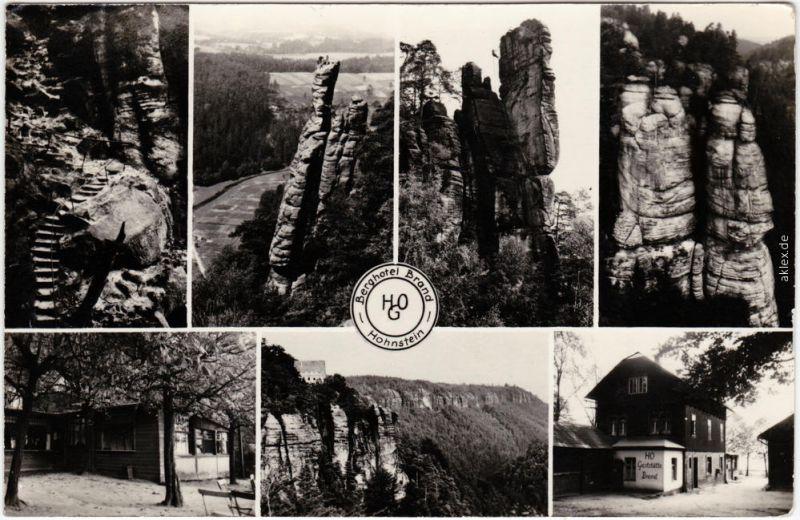 Fotokarte Brand (Sächsische Schweiz) Mehrbild: Berghotel Brand 1962