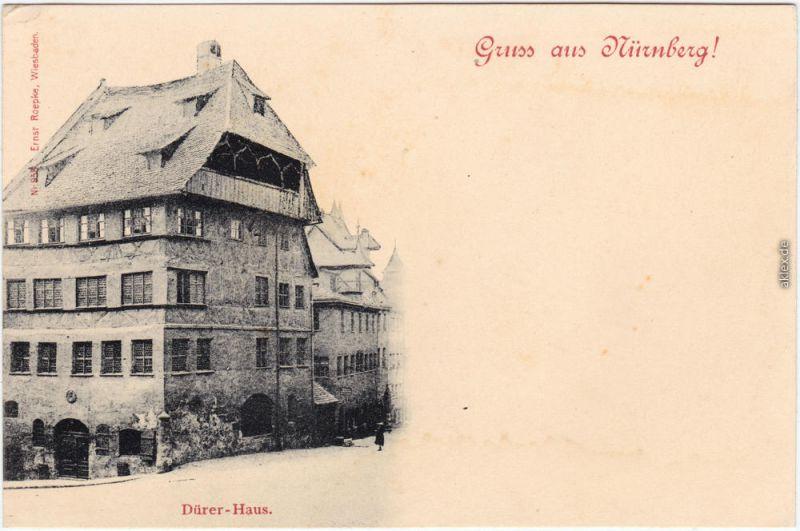 Ansichtskarte  Nürnberg Partie am Dürerhaus 1900