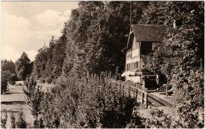 Foto Ansichtskarte Oschitz Schleiz Gaststätte Eremitage 1963