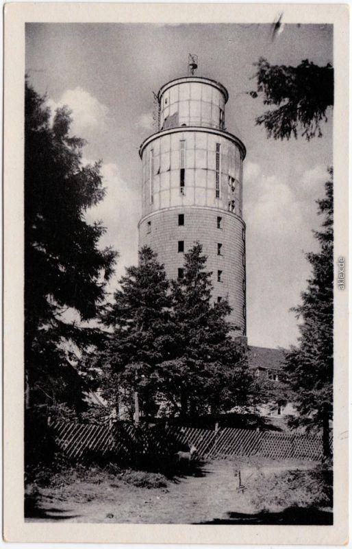 Foto Ansichtskarte Brotterode Großer Inselsberg Aussichtsturm 1953