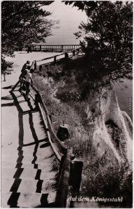 Rügen Fotokarte Stubbenkammer Sassnitz Saßnitz Auf dem Königsstuhl 1959