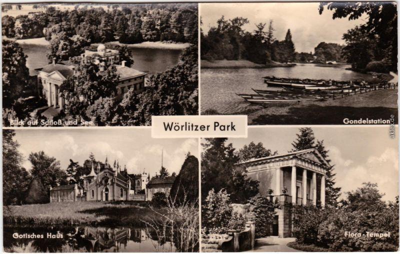 Oranienbaum Wörlitz Park Schloss Gondelstation, Gotisches Haus Flora-Tempel 195